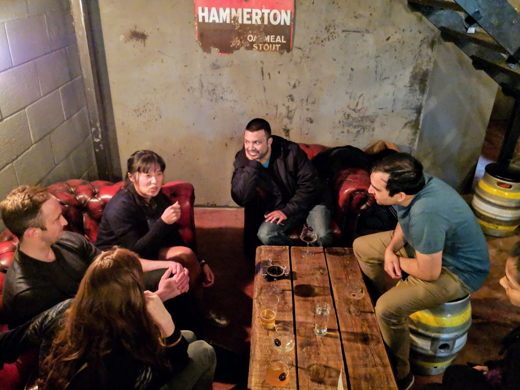 People having a nice time at Hammerton Brewery Taproom